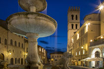 Twilight in Piazza del Comune, Assisi, Umbria, Italy by Danita Delimont