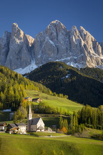 Autumn afternoon over Val di Funes, Santa Maddalena and the ... by Danita Delimont