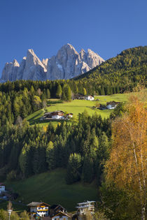 View of the Geisler Spitzen and Dolomite Mountains from San ... by Danita Delimont