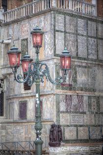 Venetian Lamppost, Venice, Italy Wintertime snows by Danita Delimont