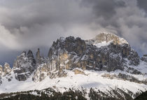 Rosengarten or catinaccio mountains in the dolomites, Italy by Danita Delimont