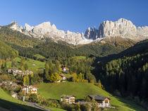 Dolomites, Rosengarten or Catinaccio Mountain Range in South... von Danita Delimont