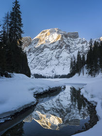 Lake Pragser Wildsee in Winter, Italy by Danita Delimont