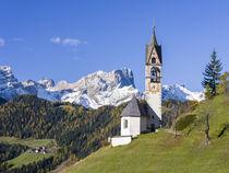 Chapel Barbarakapelle in Wengen, Italy by Danita Delimont