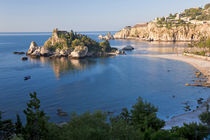 View of Isola Bella island, Taormina, Sicily, Italy by Danita Delimont