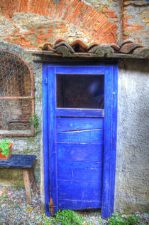 Old Hand Painted Doors in Back Alley of Town by Danita Delimont