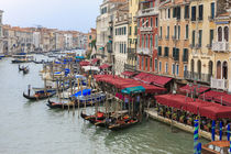 Grand Canal Restaurants and Gondolas by Danita Delimont