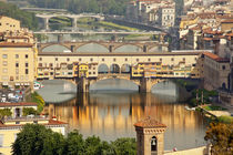 Ponte Vecchio Covered Bridge Arno River Florence Italy von Danita Delimont