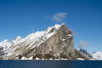 Svalbard. Hornsund. Granite cliffs surrounding by Danita Delimont