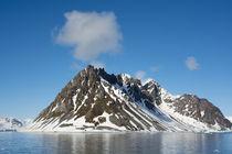 Svalbard. Hornsund. Heavily eroded peaks. by Danita Delimont