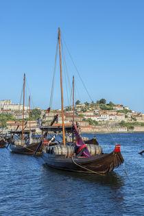 Portugal, Oporto, Douro River, Rabelo boats von Danita Delimont