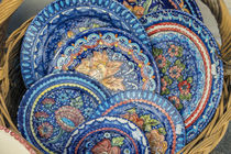 Portugal, Evora, hand painted ceramic plates by Danita Delimont