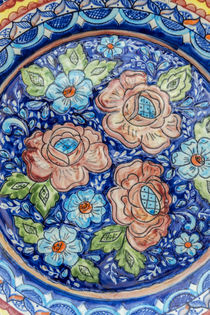 Portugal, Evora, hand painted ceramic plate von Danita Delimont