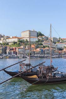 Europe, Portugal, Oporto, Douro River, Rabelo boats von Danita Delimont