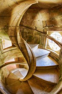 Spiral Stone Staircase in Convento de Cristo by Danita Delimont