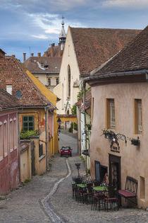 Romania, Transylvania, Sighisoara, Old Town, Scolii Street von Danita Delimont