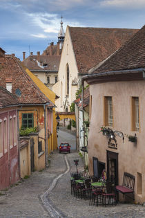 Romania, Transylvania, Sighisoara, Old Town, Scolii Street by Danita Delimont