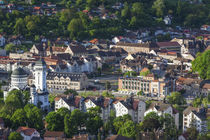 Romania, Transylvania, Sighisoara, elevated town view, dawn by Danita Delimont