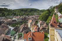 Romania, Transylvania, Sighisoara, elevated city view from Clock Tower von Danita Delimont