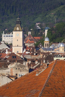 Romania, Transylvania, Brasov, elevated city view with Town ... von Danita Delimont