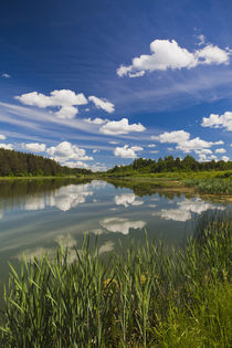 Russia, Pskovskaya Oblast, Pushkinskie Gory, lake at Mikhail... by Danita Delimont