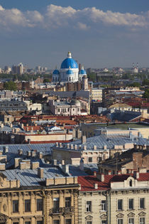 Russia, Saint Petersburg, Center, elevated city view from St by Danita Delimont