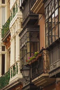 Spain, Asturias Region, Asturias Province, Oviedo, town architecture von Danita Delimont