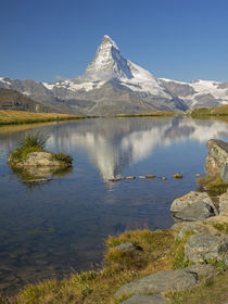Switzerland, Zermatt, Matterhorn reflected in Stellisee by Danita Delimont