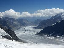 Switzerland, Bern Canton, Jungfraujoch, Aletsch Glacier von Danita Delimont