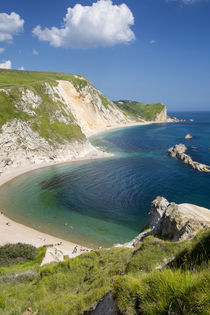 View above Man O War Bay along the Jurassic Coast, Dorset, England von Danita Delimont