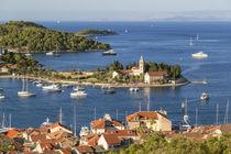 Vis town, Franciscan monastery & harbour, Vis Island, Croatia von Danita Delimont