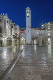 Stradun and Bell Tower at Dawn von Danita Delimont
