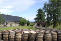 Barrels waiting to be filled at Glenmorangie Distillery, Tai... by Danita Delimont