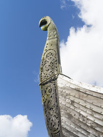 the island of Unst, viking ship, Shetland Inseln, UK von Danita Delimont