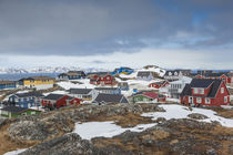 Greenland, Nuuk, Kolonihavn area, residential houses von Danita Delimont