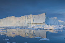 Greenland, Disko Bay, Ilulissat, floating ice at sunset von Danita Delimont