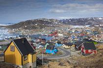 Greenland, Qaqortoq, elevated town view by Danita Delimont