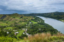 Tavuni Hill Fort overlooking the Sigatoga river, Viti Levu, ... by Danita Delimont
