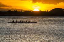 Evening rowing in the bay of Apia, Upolu, Samoa, South Pacific von Danita Delimont
