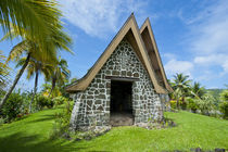 Stone church in Kwato Island, Papua New Guinea by Danita Delimont