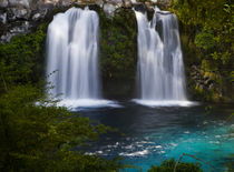 South America. Waterfalls at Ojos del Caburga . Waterfalls a... von Danita Delimont