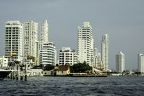 Modern and luxurious Bocagrande beach front of Cartagena, Colombia. by Danita Delimont