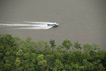 Speed boat on Napo River von Danita Delimont