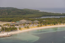 Central America, Honduras, Roatan, resort near Coxen Hole by Danita Delimont