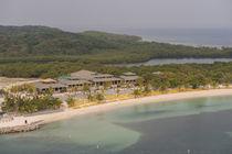 Central America, Honduras, Roatan, resort near Coxen Hole von Danita Delimont
