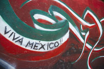 Wall painted to celebrate colors of Mexican flag. Credit as:... von Danita Delimont