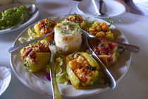 Shrimp chile relleno, Seafood restaurant, San Jose, Baja, Mexico von Danita Delimont