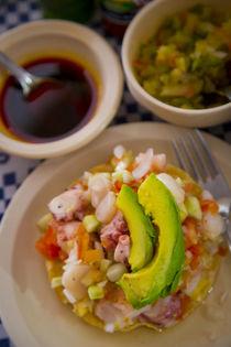 Ceviche, Pichis seafood restaurant, Vallarta Food Tours, El ... by Danita Delimont