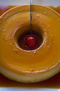 Crema Volteada, creme custard, Restaurant El Parador de Mora... von Danita Delimont
