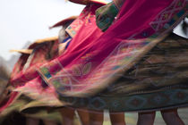 Swirling skirts of dancers, Cuzco, Peru, South America von Danita Delimont